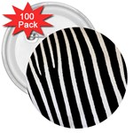 Zebra Print	 3  Button (100 pack)