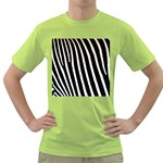 Zebra Print	 Green T-Shirt