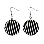 Zebra Print	 1  Button Earrings