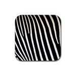 Zebra Print	 Rubber Square Coaster (4 pack)