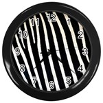 Zebra Print	 Wall Clock (Black)