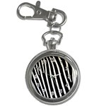 Zebra Print	 Key Chain Watch
