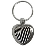 Zebra Print	 Key Chain (Heart)
