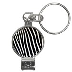 Zebra Print	 Nail Clippers Key Chain