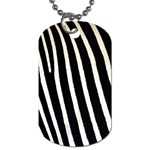 Zebra Print	 Dog Tag (One Side)