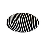 Zebra Print	 Sticker Oval (10 pack)