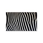 Zebra Print	 Sticker Rectangular (100 pack)