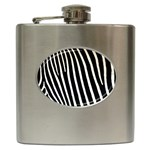 Zebra Print	 Hip Flask (6 oz)