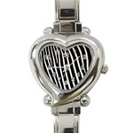 Zebra Print	 Heart Italian Charm Watch