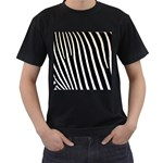 Zebra Print	 Black T-Shirt (Two Sides)