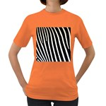 Zebra Print	 Women s Dark T-Shirt