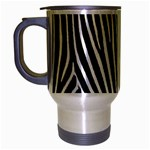Zebra Print	 Travel Mug (Silver Gray)