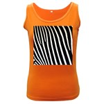Zebra Print	 Women s Dark Tank Top