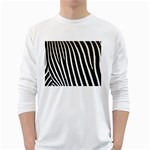 Zebra Print	 Long Sleeve T-Shirt