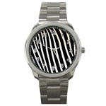 Zebra Print	 Sport Metal Watch