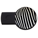 Zebra Print	 USB Flash Drive Round (4 GB)