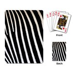 Zebra Print	 Playing Cards Single Design