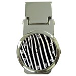 Zebra Print	 Money Clip Watch