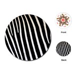 Zebra Print	Playing Cards (Round)