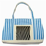 Zebra Print	 Striped Blue Tote Bag