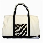 Zebra Print	 Two Tone Tote Bag