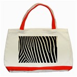 Zebra Print	 Classic Tote Bag (Red)