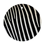 Zebra Print	 Round Ornament (Two Sides)