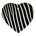 Zebra Print	 Heart Ornament (Two Sides)