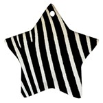 Zebra Print	 Star Ornament (Two Sides)