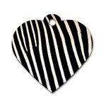Zebra Print	 Dog Tag Heart (Two Sides)