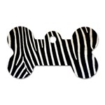 Zebra Print	 Dog Tag Bone (One Side)