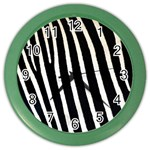 Zebra Print	 Color Wall Clock