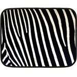 Zebra Print	 Mini Fleece Blanket(Two Sides)