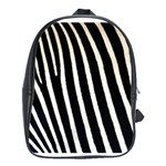 Zebra Print	 School Bag (Large)