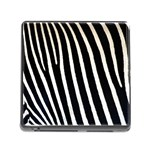 Zebra Print	 Memory Card Reader with Storage (Square)