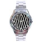 Zebra Print	 Stainless Steel Analogue Men's Watch