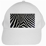 Zebra Print Big	 White Cap
