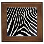 Zebra Print Big	 Framed Tile