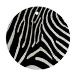 Zebra Print Big	 Ornament (Round)
