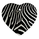 Zebra Print Big	 Ornament (Heart)