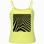 Zebra Print Big	 Yellow Spaghetti Tank