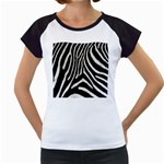 Zebra Print Big	 Women s Cap Sleeve T