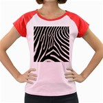 Zebra Print Big	 Women s Cap Sleeve T-Shirt