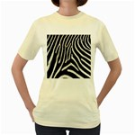 Zebra Print Big	 Women s Yellow T-Shirt