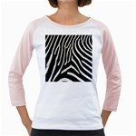 Zebra Print Big	 Girly Raglan