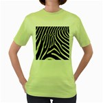 Zebra Print Big	 Women s Green T-Shirt