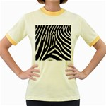 Zebra Print Big	 Women s Fitted Ringer T-Shirt