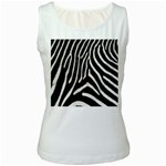 Zebra Print Big	 Women s Tank Top
