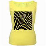 Zebra Print Big	 Women s Yellow Tank Top