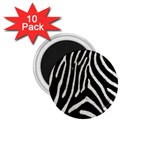 Zebra Print Big	 1.75  Magnet (10 pack)